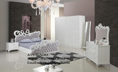 Indonesia Furniture Exporter,DUCO Furniture,French Provincial Furniture Indonesia code A164 bed room DUCO french style with white painted luxurious interior bed room mahogany white painted