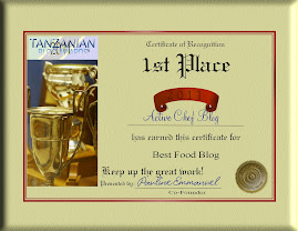 BEST TANZANIAN FOOD BLOG CERTIFICATE