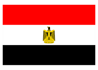 Egyptian flag Logo Vector