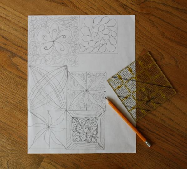 Free motion quilting doodles | DevotedQuilter.blogspot.com