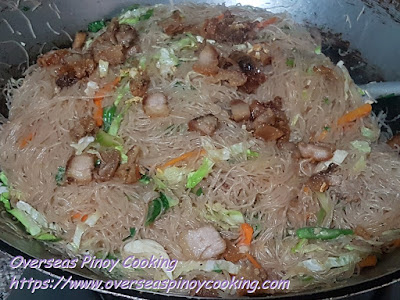 Pansit Bihon with Vigan Bagnet - Cooking Procedure