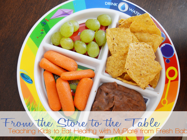 From the Store to the Table: Teaching Kids to Eat Healthy with MyPlate from Fresh Baby!