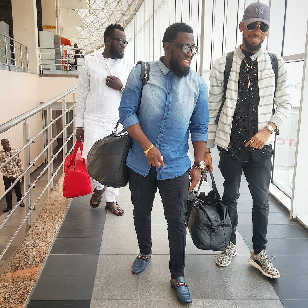 0c77e171553bc Phyno has joined the list of celebrities rocking the Adidas Yeezy Boost 350  Low Sneakers. He was seen at Murtala Muhammed Aiport Lagos looking all  Phynoing ...