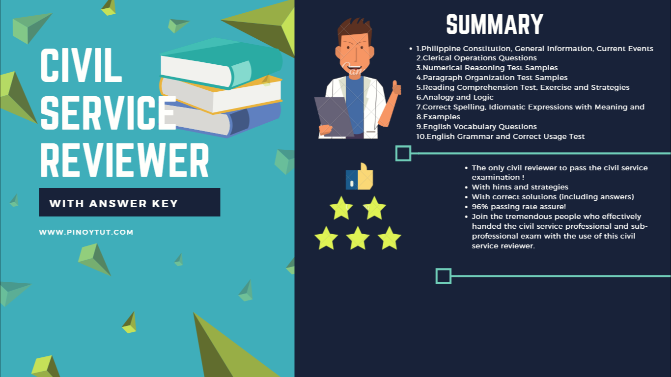 Civil Service Reviewer with Answer Key 2018 DOWNLOAD | Pinoytut