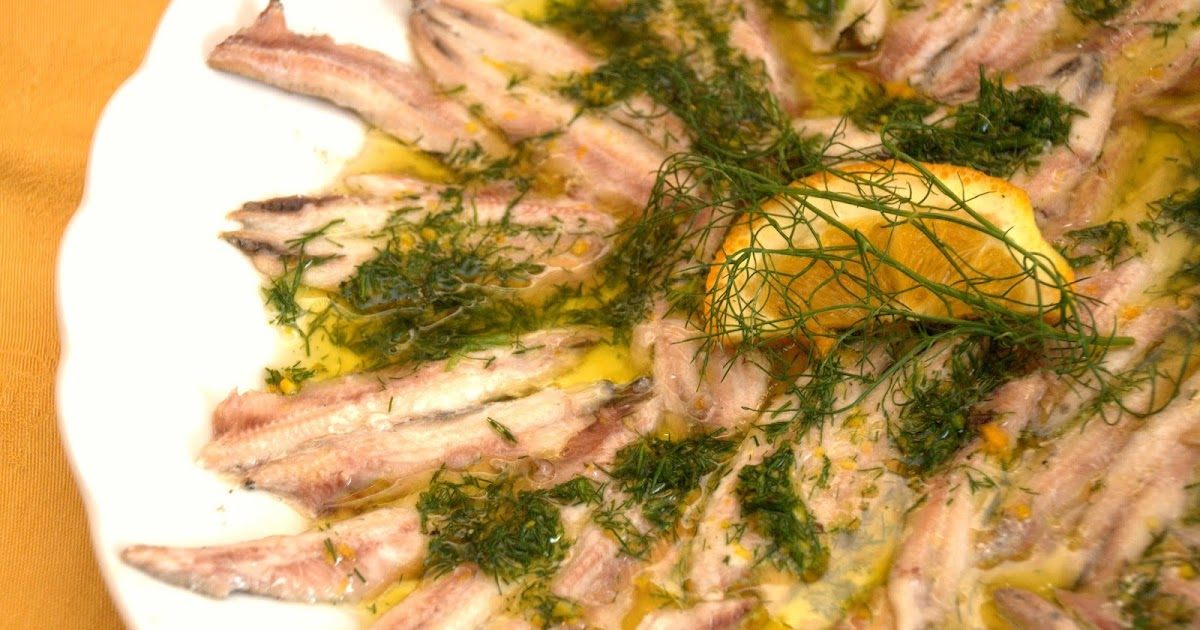 Alici marinate al finocchietto selvatico e agrumi