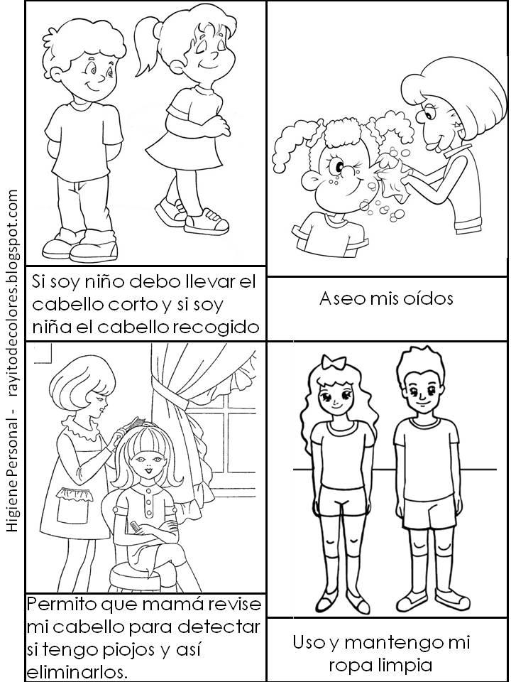 Dibujo Para Colorear Sobre La Higiene Personal