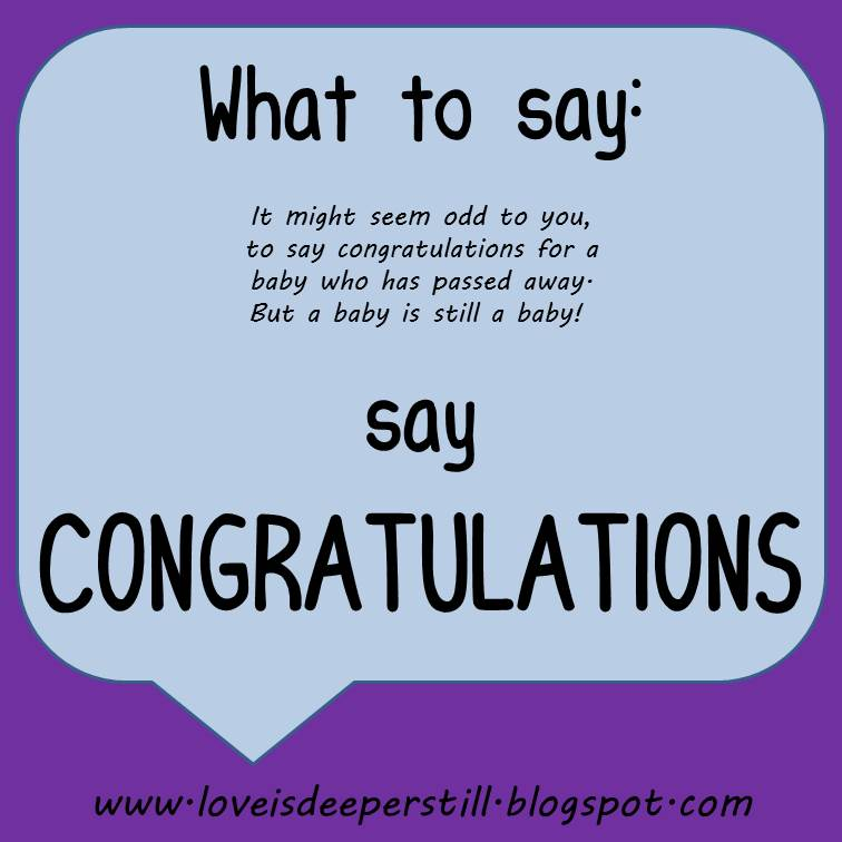 Deeper Still What To Say Congratulations