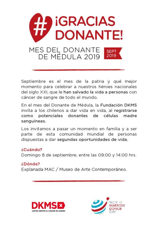 Mes Internacional del Donate de Médula Ósea