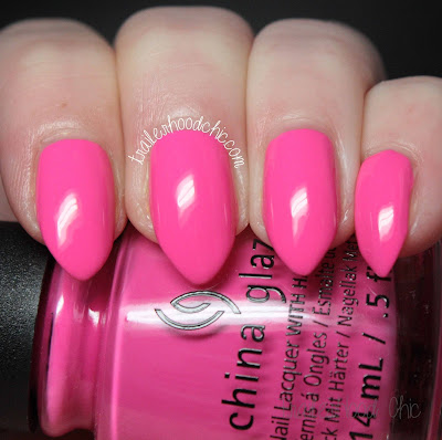 china glaze lite brites collection swatch i'll pink to that