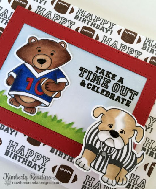 Touchdown Tails | Newton's Nook | kimpletekreativity.blogspot.com | football | handmade card