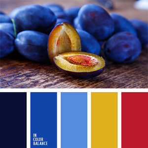 Плоды, ягоды, овощи - гармоничные палитры в 5 цветов