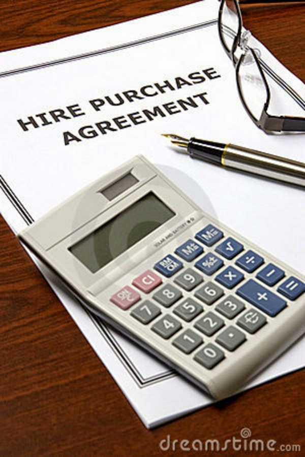 Contract and hire purchase act