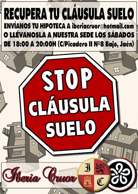 Asociaci n iberia cruor recupera tu cl usula suelo for Clausula suelo 3 meses