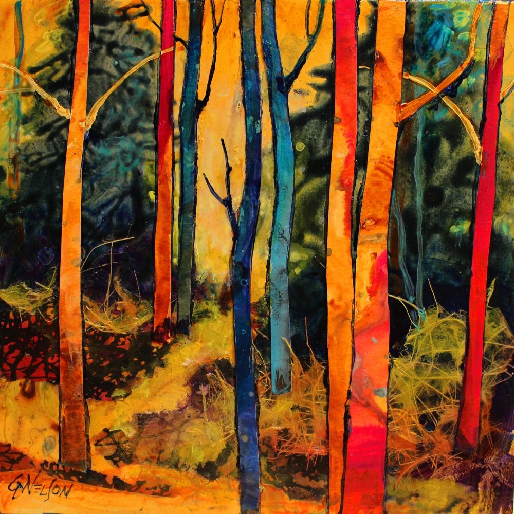 "CAROL NELSON FINE ART BLOG: ""Forest Wonders"" Mixed Media"