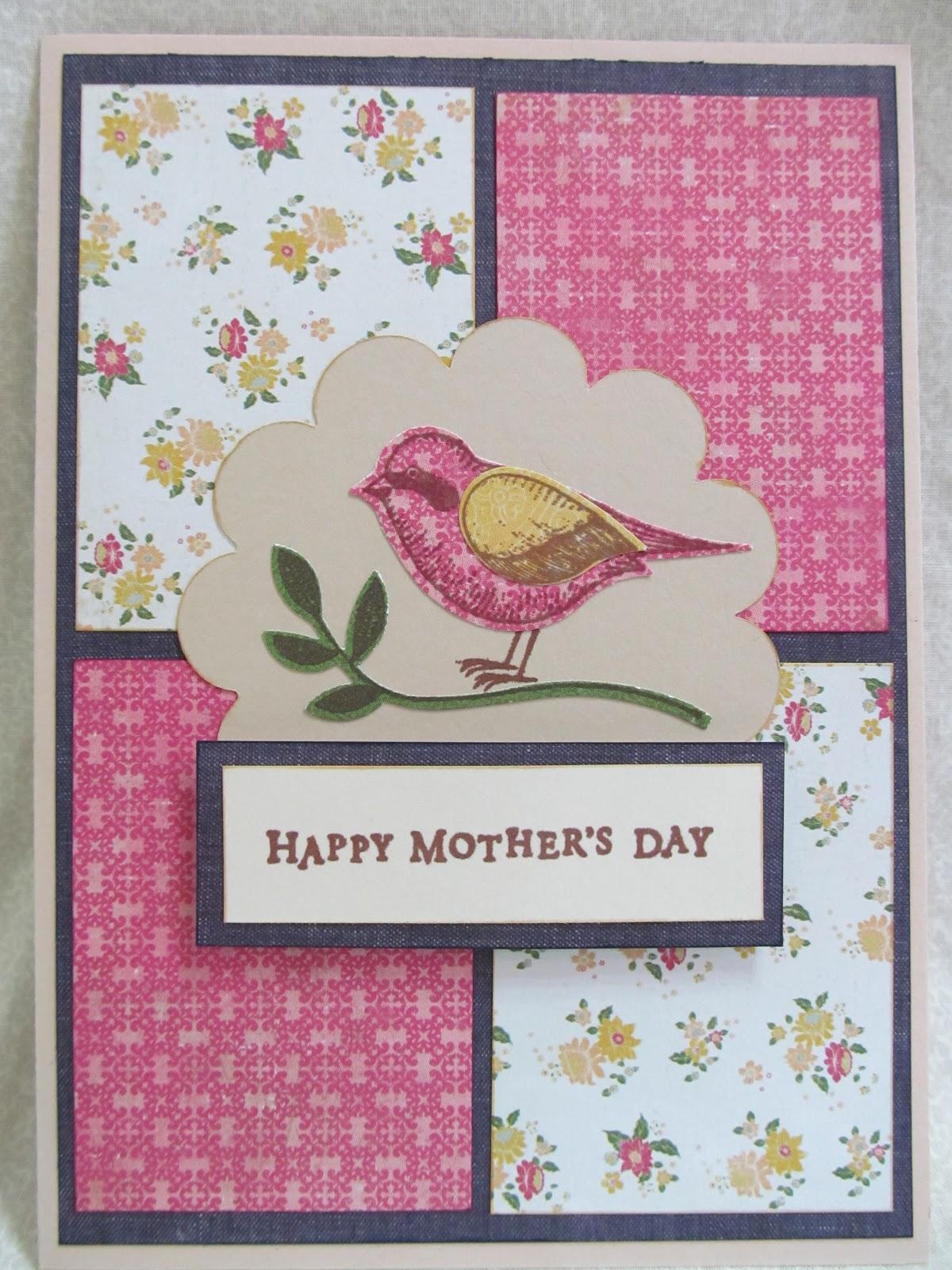 Savvy Handmade Cards: Mother's Day Bird Card