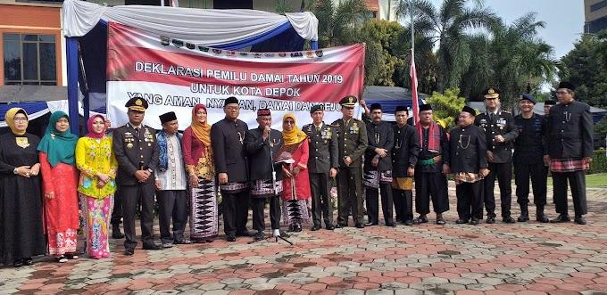 Walikota Deklarasikan Depok Aman dan Damai Pasca Pemilu