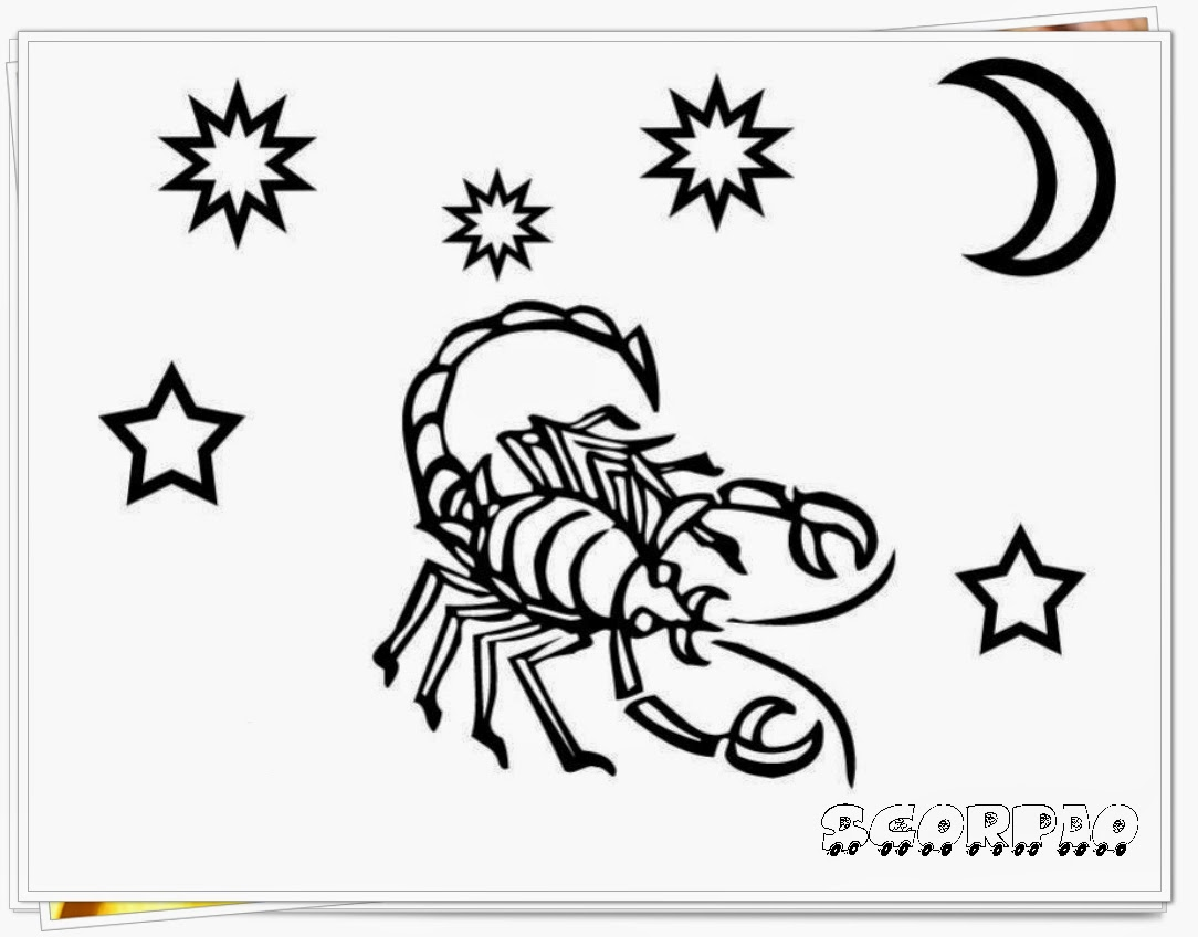 scorpio printable zodiac coloring pages