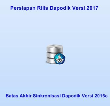 Batas Akhir Sinkronisasi Dapodik Versi 2016 dan Persiapan Rilis Dapodik Versi 2017