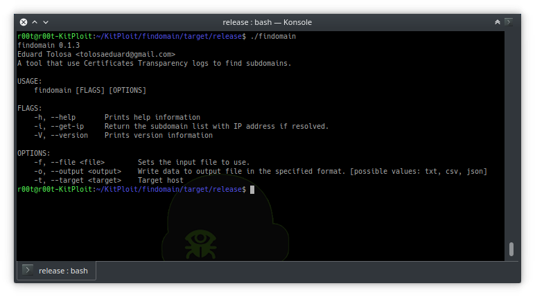 Findomain - A Cross-Platform Tool That Use Certificate Transparency Logs To Find Subdomains