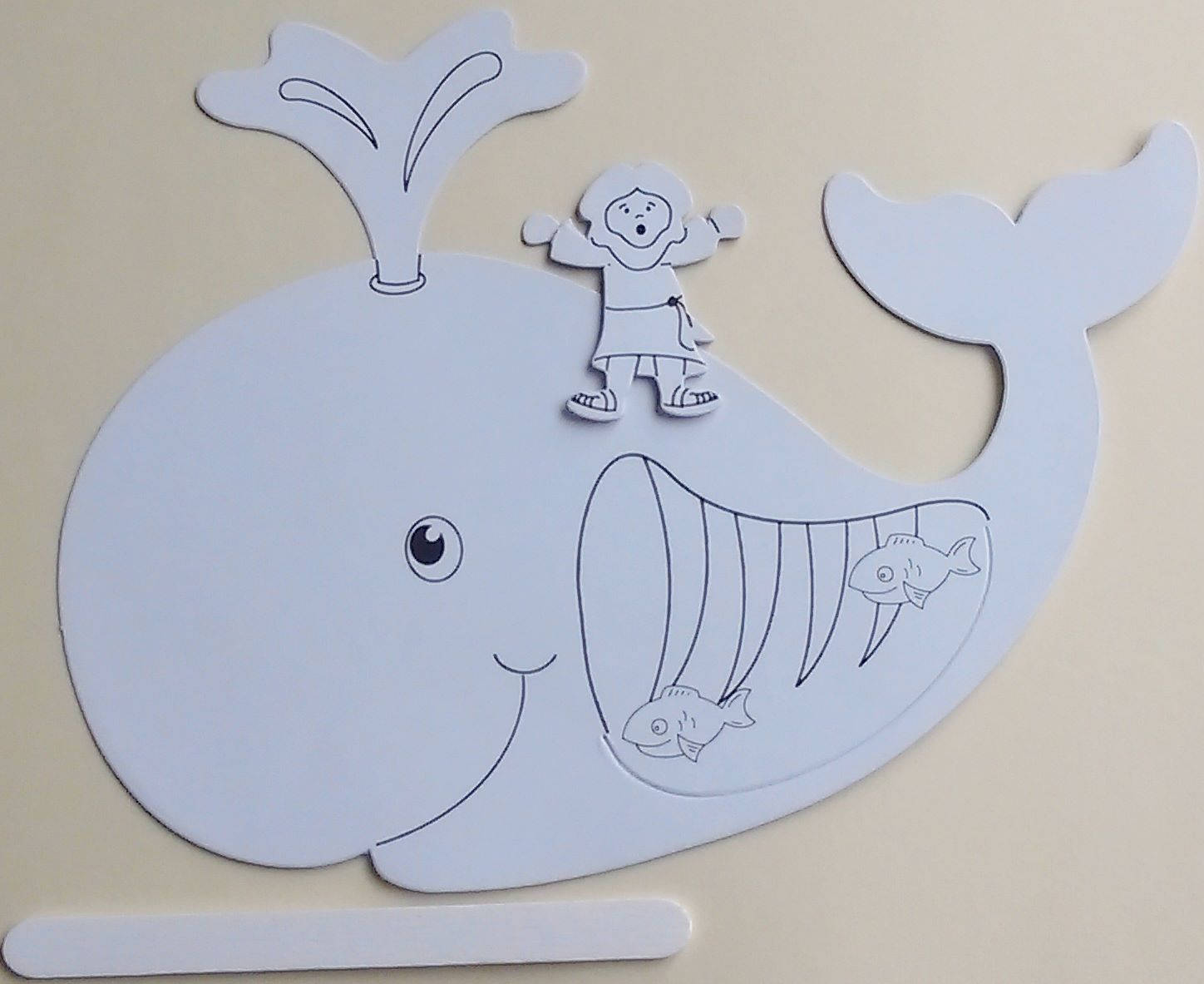 Petersham Bible Book Amp Tract Depot Colour Your Own Jonah And The Whale Craft Kit