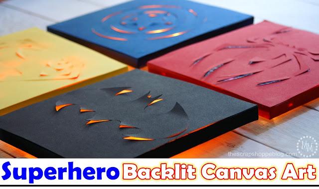 Superhero Backlit Canvas Art