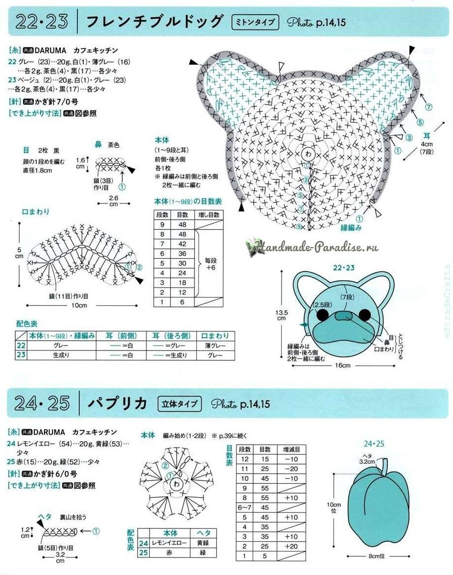Схемы вязания детских подвесок и брелочков (6)
