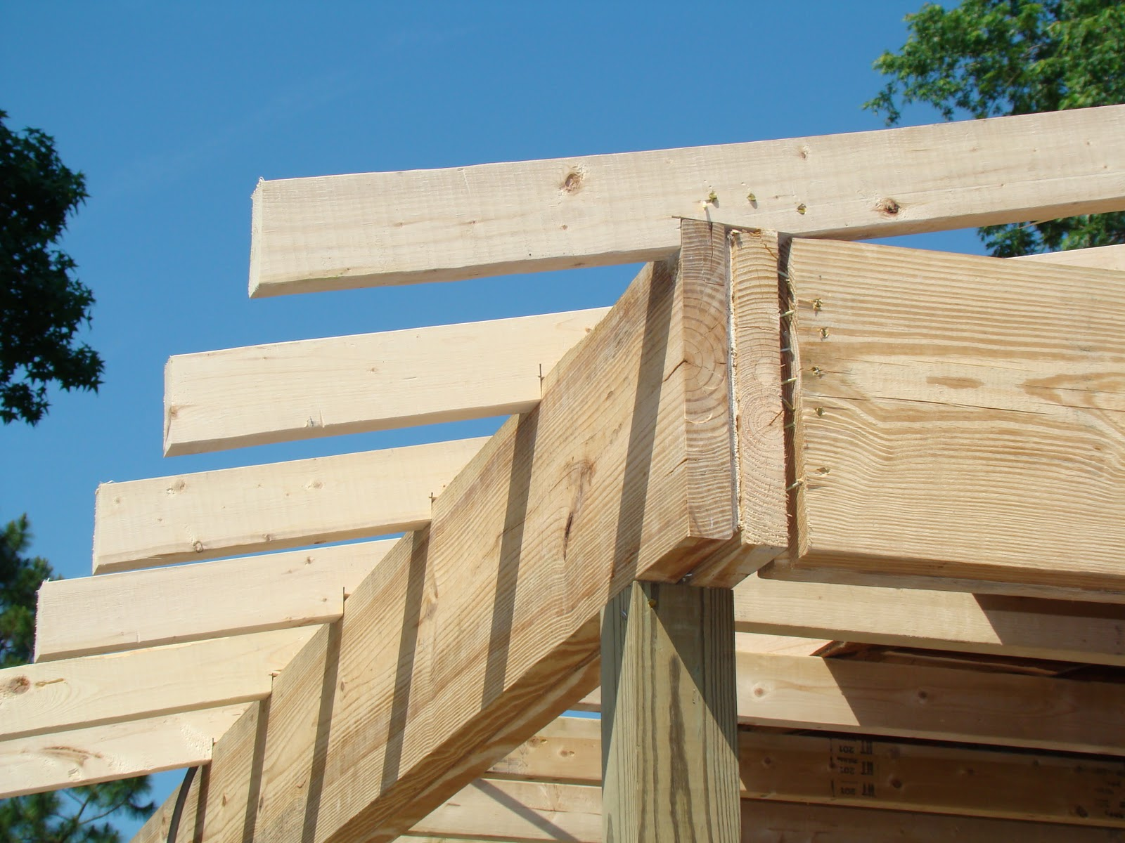 Construction Reports Framing The Porch Roof