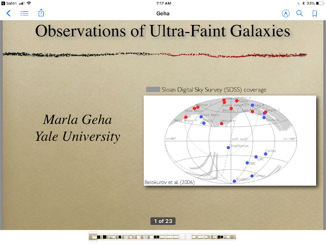 Observations of Ultra-faint galaxies (Source: Marla Geha, Yale U @ http://www2.cscamm.umd.edu/programs/ndm09/presentations/Geha.pdf)