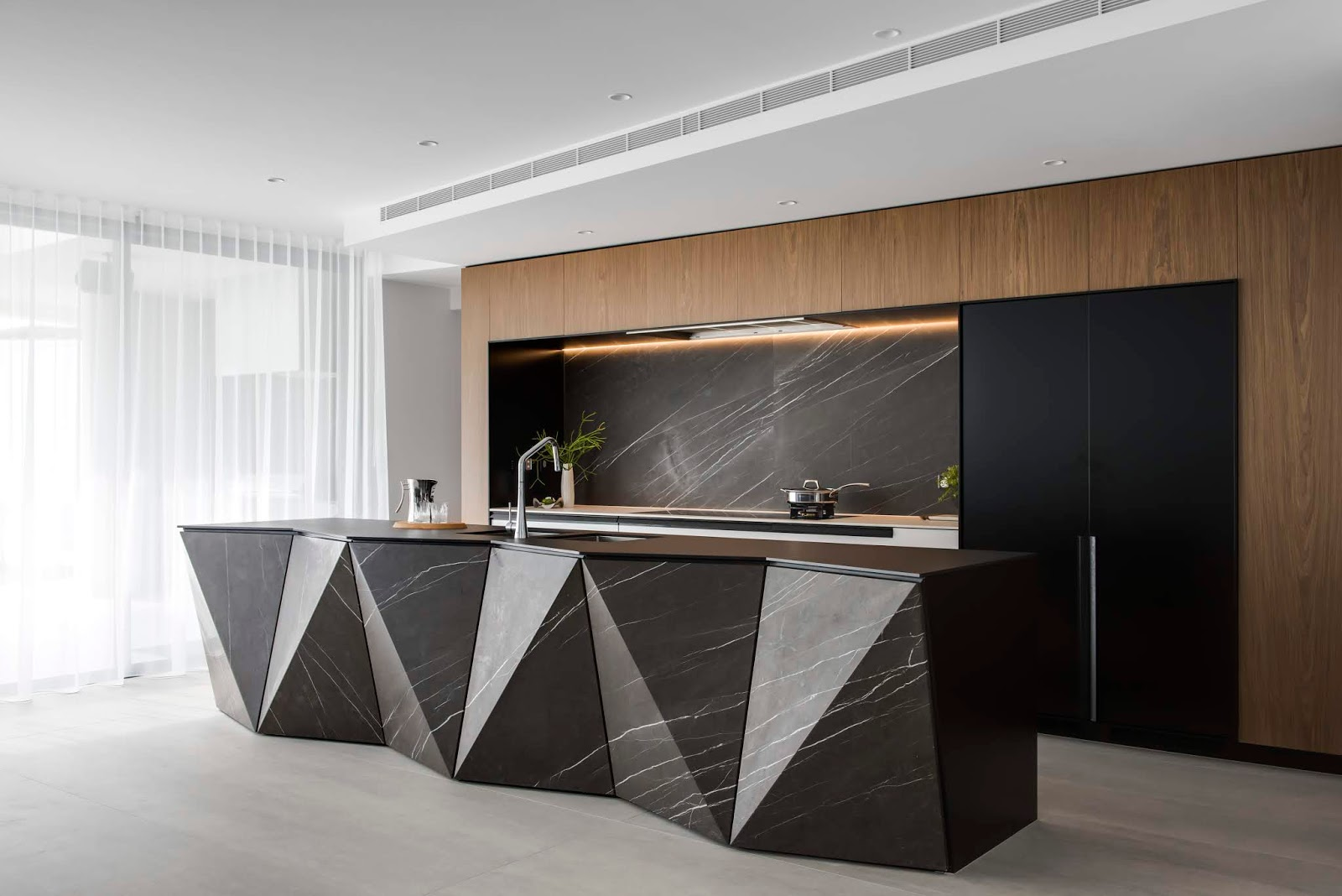 Kitchen Builder Plates Minosa Kbdi Australian Designer Of The Year 2018 Design Does Exactly That Architecture This Home Was Very Angular And Clients Desire For A Statement Piece Clear Form Outset