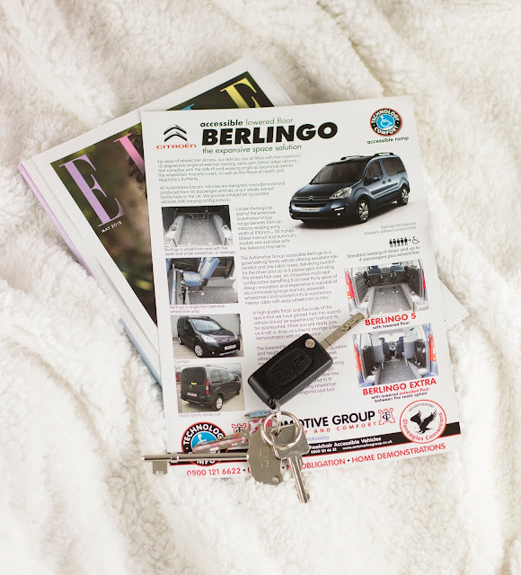 car keys on pamphlet for Citroen Berlingo