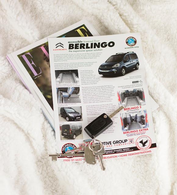car keys on pamphlet for Citroen Berlingo