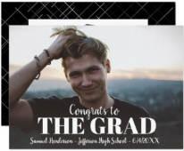 Modern Bold Grad Photo Graduation Party Invite