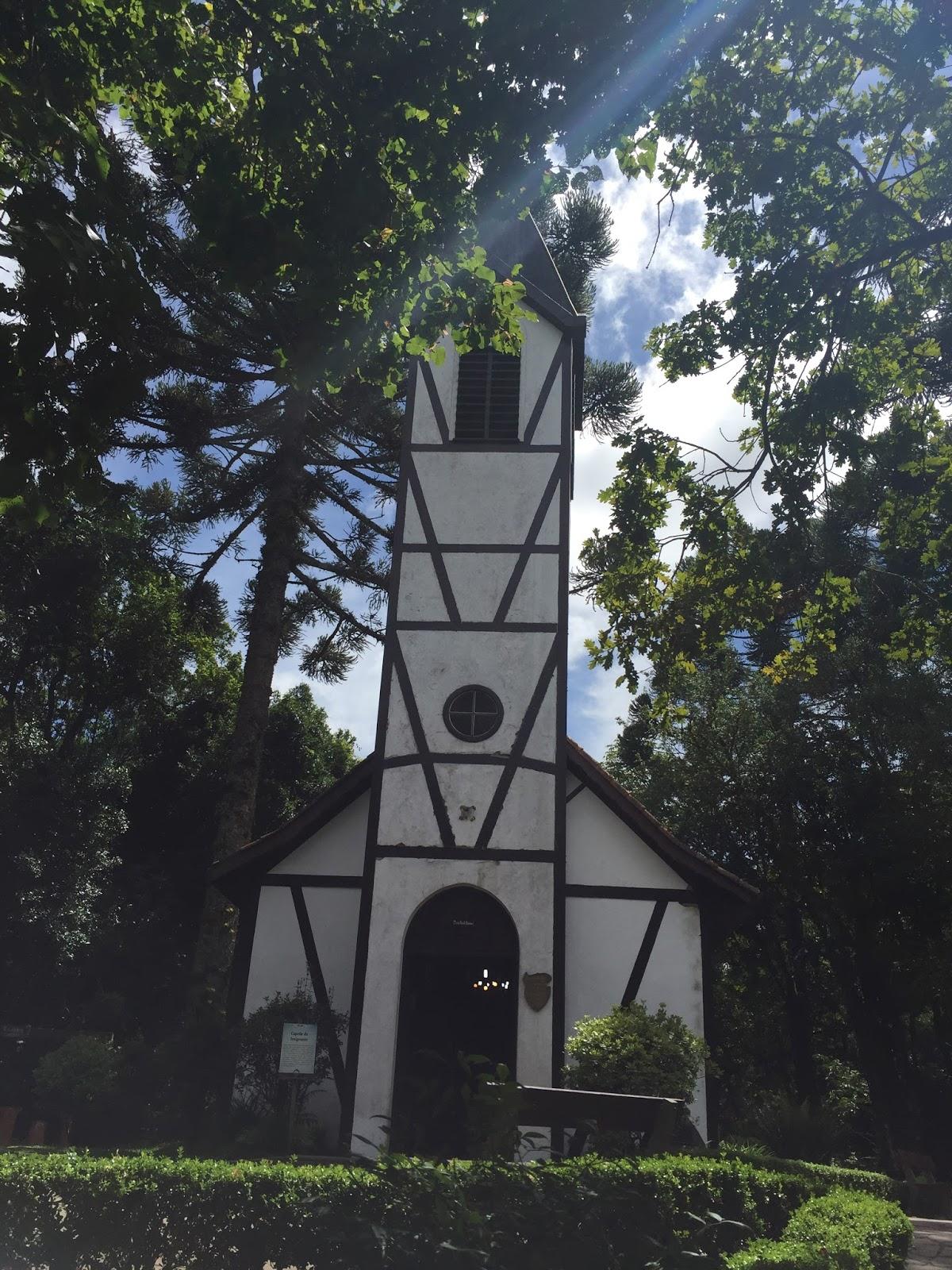 Unica igreja com torre em estilo enxaimel no Brasil