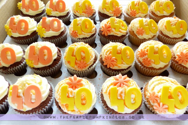 [Orange & Yellow 40th Birthday Party] Cupcakes!