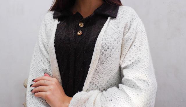 Look: Cardigan de lã + Blusão de lã