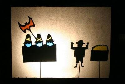 Teatro sombras  Libro infantil Los tres bandidos