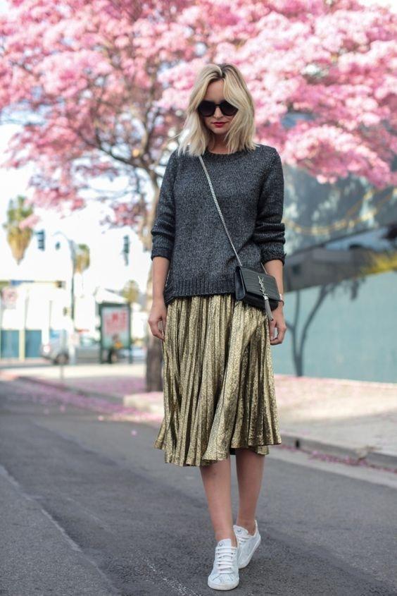 Si eliges una falda oscura y un top clarito 1749fc7fb33a