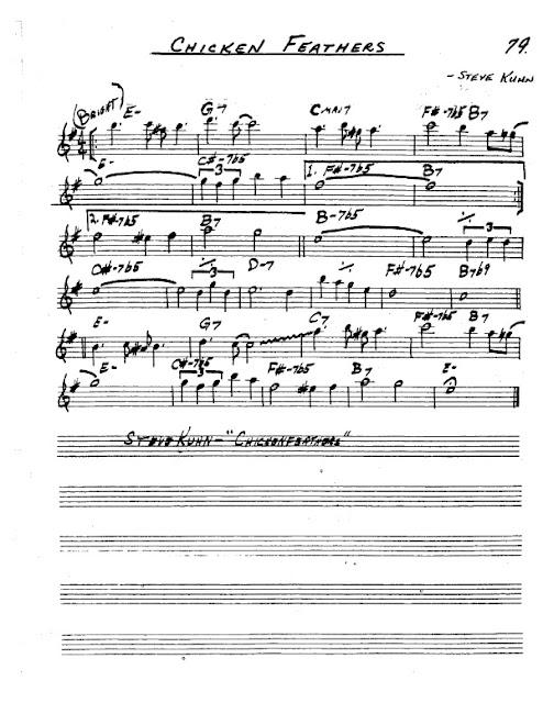 Partitura Saxofón Steve Kuhn