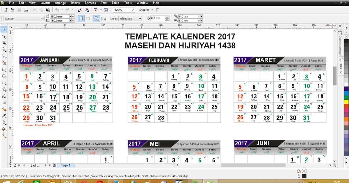 Berbagi itu Indah: Template Desain Kalender 2017 format ...