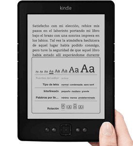 Modelo de Kindle, e-reader de ebooks de Amazon