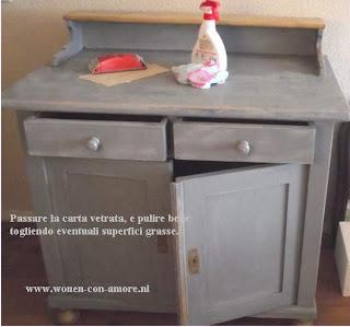 Shabby chic con amore casa shabby chic tutorial trasformazione com nello stile shabby chic - Restaurare un mobile in legno ...