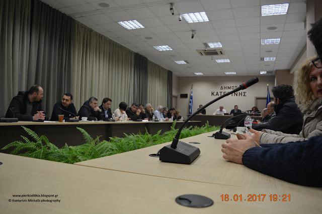 Δημοτικό συμβούλιο σήμερα στην Κατερίνη με το θέμα του Πέλεκα να κυριαρχεί.