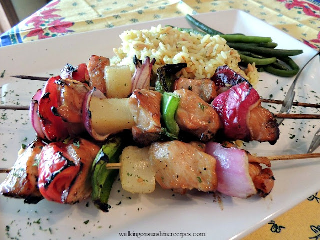 Chicken Kabobs are a delicious alternative for your guests who don't like beef.
