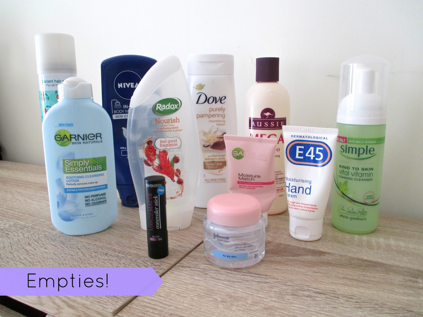 Empties / products I've used up