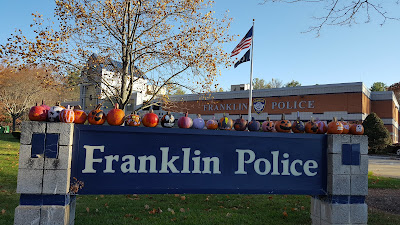 Franklin Police Station - post Halloween