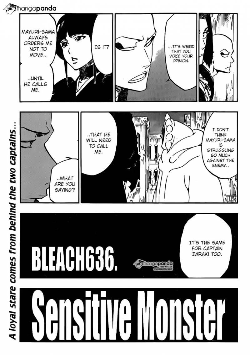 Bleach Ch 636: Sensitive Monster