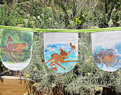 image golden book bunting bambi lime green forest deer disney domum vindemia children