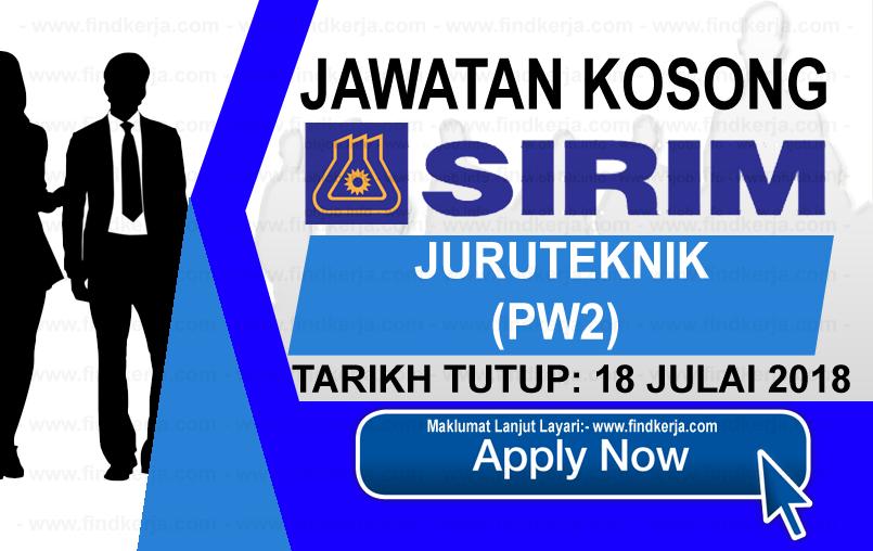 Jawatan Kerja Kosong SIRIM Berhad logo www.ohjob.info www.findkerja.com julai 2018