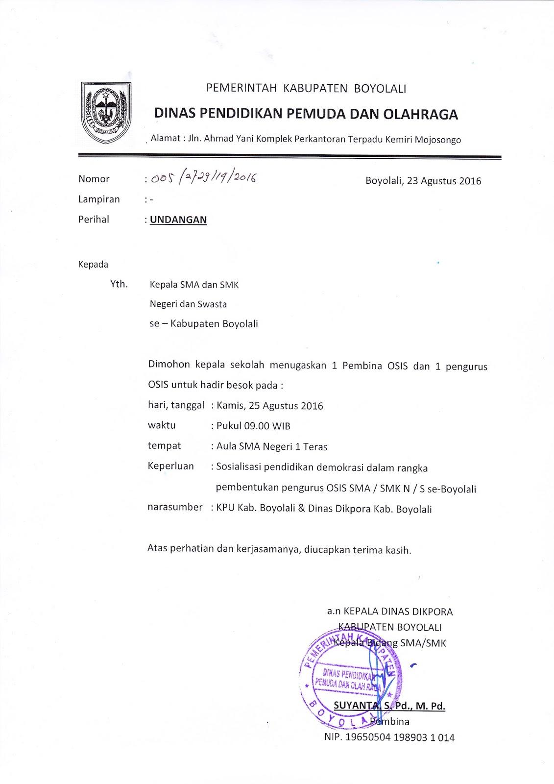 Info Sma Smk Kabupaten Boyolali Agustus 2016