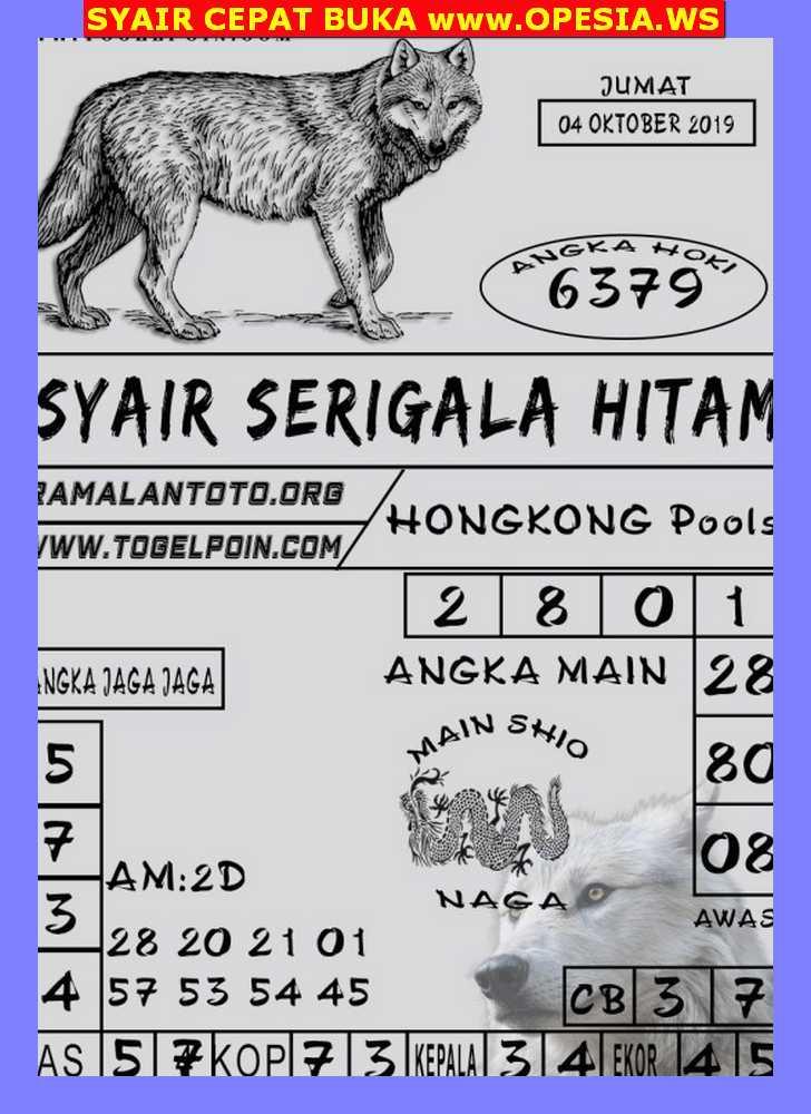 Kode syair Hongkong Jumat 4 Oktober 2019 156